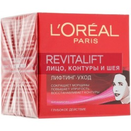 Крем-лифтинг для контура лица и шеи Revitalift Face Contours and Neck Re-Support Cream LOreal Paris